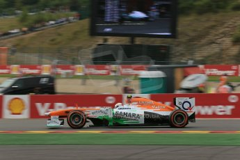 World © Octane Photographic Ltd. F1 Belgian GP - Spa-Francorchamps, Saturday 24th August 2013 - Practice 3. Sahara Force India VJM06 - Adrian Sutil. Digital Ref : 0792lw1d9100