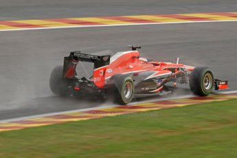 World © Octane Photographic Ltd. F1 Belgian GP - Spa-Francorchamps, Saturday 24th August 2013 - Qualifying. Marussia F1 Team MR02 - Jules Bianchi. Digital Ref : 0793cb7d2673