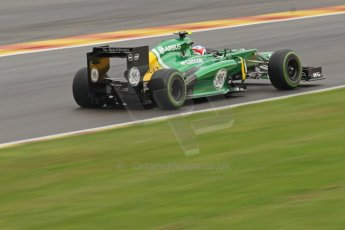 World © Octane Photographic Ltd. F1 Belgian GP - Spa-Francorchamps, Saturday 24th August 2013 - Qualifying. Caterham F1 Team CT03 - Giedo van der Garde. Digital Ref : 0793cb7d2777
