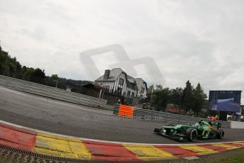 World © Octane Photographic Ltd. F1 Belgian GP - Spa-Francorchamps, Saturday 24th August 2013 - Qualifying. Caterham F1 Team CT03 - Giedo van der Garde. Digital Ref : 0793lw1d5446