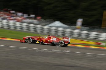 World © Octane Photographic Ltd. F1 Belgian GP - Spa-Francorchamps, Saturday 24th August 2013 - Qualifying. Scuderia Ferrari F138 - Felipe Massa. Digital Ref : 0793lw1d5725
