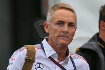 World © Octane Photographic Ltd. F1 Belgian GP - Spa-Francorchamps, Saturday 24th August 2013 - Paddock. Vodafone McLaren Mercedes - Marton Whitmarsh. Digital Ref : 0791lw1d8183