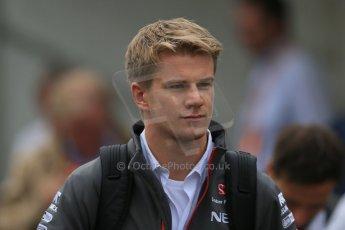 World © Octane Photographic Ltd. F1 Belgian GP - Spa-Francorchamps, Sunday 25th August 2013 - Paddock. Sauber C32 - Nico Hulkenberg. Digital Ref : 0795lw1d0153