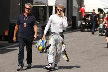 World © Octane Photographic Ltd. GP2 Paddock, Belgian GP, Spa Francorchamps, Thursday 22nd August 2013. Marcus Ericsson - DAMS. Digital Ref :