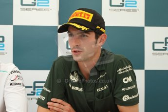 World © Octane Photographic Ltd. GP2 Belgian GP, Spa Francorchamps, Saturday 24th August 2013. Race 1 press conference. Alexander Rossi - EQ8 Caterham Racing. Digital Ref : 0794cb7d3113