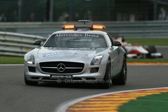 World © Octane Photographic Ltd. GP2 Belgian GP, Spa Francorchamps, Saturday 24th August 2013. Race 1. Safety car and James Calado – ART Grand Prix. Digital Ref : 0794lw1d9710