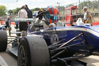 World © Octane Photographic Ltd. British Formula 3 – Brands Hatch. Saturday 10th August 2013 – Race 1. Race winner Jazeman Jaafar in parc ferme– Carlin – Dallara F312 Volkswagen. Digital Ref : 0777cb1d3951