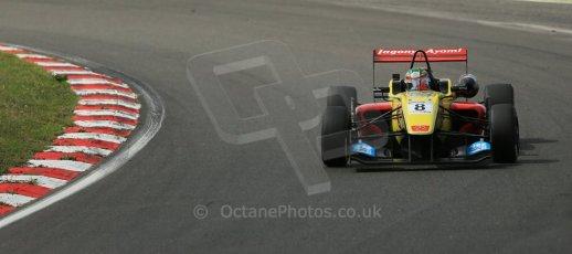 World © Octane Photographic Ltd. British Formula 3 – Brands Hatch. Saturday 10th August 2013 – Race 1. Antonio Giovinazzi – Double R – Dallara F312 HWA Mercedes. Digital Ref : 0777lw1d6378