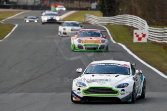 World © Octane Photographic Ltd./Chris Enion. Avon Tyres British GT Championship - Saturday 30th March 2013 Oulton Park – Practice 2. Aston Martin V8 Vantage GT4 – Complete Racing AMR – Tom Wilson, Steve Chaplin. Digital Ref : 0605ce1d4992