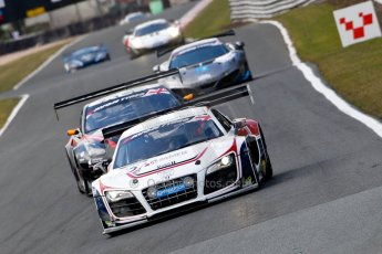 World © Octane Photographic Ltd./Chris Enion. Avon Tyres British GT Championship - Saturday 30th March 2013 Oulton Park – Practice 2. Audi R8 LMS Ultra – United Autosports – Zak Brown, Matt Bell, Mark Patterson and Nissan GTR – JRM Racing – Jody Fannin, Mark Cole. Digtal Ref :