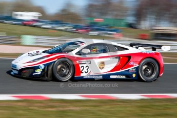World © Octane Photographic Ltd./Chris Enion. Avon Tyres British GT Championship - Saturday 30th March 2013 Oulton Park – Practice 1. McLaren MP4-12C GT3 – United Autosports – Zak Brown, Glynn Geddie. Digtal Ref : 0604ce1d4375