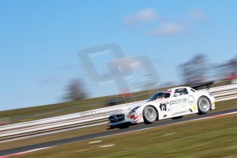 World © Octane Photographic Ltd./Chris Enion. Avon Tyres British GT Championship - Saturday 30th March 2013 Oulton Park – Practice 1. Mercedes-Benz SLS AMG GT3 – Fortec Motorsports – James Walker, Jason Minshaw. Digital Ref : 0604ce1d4548