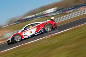 World © Octane Photographic Ltd./Chris Enion. Avon Tyres British GT Championship - Saturday 30th March 2013 Oulton Park – Practice 1. McLaren MP4-12C GT3 – United Autosports – Mark Blundell, Roger Wills. Digtal Ref :