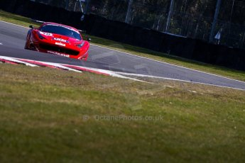 World © Octane Photographic Ltd./Chris Enion. Avon Tyres British GT Championship - Saturday 30th March 2013 Oulton Park – Practice 1. Ferrari 458 Italia, FF Corse – Rob Barff, Gary Eastwood. Digital Ref : 0604ce1d4756