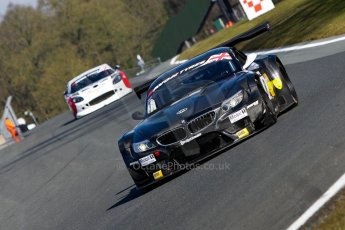 World © Octane Photographic Ltd./Chris Enion. Avon Tyres British GT Championship - Saturday 30th March 2013 Oulton Park – Practice 1. BMW Z4 GT3 – 888Optimum – Joe Osborne, Lee Mowle and Ginetta G50 – Century Motorsport – Declan Jones, Zoe Wenham. Digital Ref : 0604ce1d4939