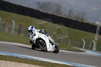 World © Octane Photographic Ltd. MCE Insurance British Superbike Championship (BSB) Test day – Donington Park, 14th March 2013. Jenny Tinmouth – Two Wheel Racing Honda. Digital Ref : 0588ce1d3418