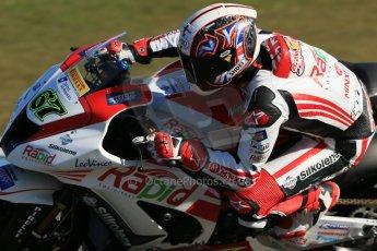 World © Octane Photographic Ltd. MCE Insurance British Superbike Championship (BSB) Test day – Donington Park, 14th March 2013. Shane Byrne – Rapid Solicitors Kawasaki. Digital Ref : 0588lw1d4662