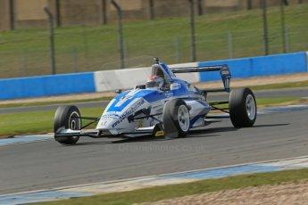 World © Octane Photographic Ltd. Formula Ford, Donington Park practice Thursday 18th April 2013. Enigma Motorsport – Mygale M12SJ/Scholar – George Blundell. Digital Ref :
