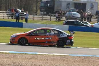 World © Octane Photographic Ltd. BTCC, Donington Park Saturday 20th April 2013. Frank Wrathall - Dynojet - Toyota Avensis. Digital Ref :