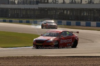 World © Octane Photographic Ltd. BTCC, Donington Park Saturday 20th April 2013. James Cole - RCIB Insurance Racing - Vauxhall Insignia and Frank Wrathall - Dynojet - Toyota Avensis. Digital Ref :