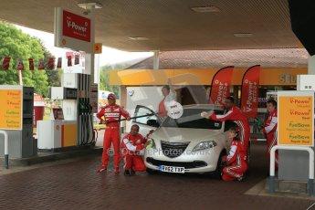 World © Octane Photographic Ltd. GP2 British GP, Silverstone, Thursday 27th June 2013. Felipe Massa - Scuderia Ferrari - Shell Towcester Pit Stop. Digital Ref : 0723lw1d2311