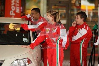 World © Octane Photographic Ltd. GP2 British GP, Silverstone, Thursday 27th June 2013. Felipe Massa - Scuderia Ferrari - Shell Towcester Pit Stop. Digital Ref : 0723lw1d9707