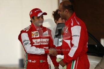 World © Octane Photographic Ltd. GP2 British GP, Silverstone, Thursday 27th June 2013. Felipe Massa - Scuderia Ferrari - Shell Towcester Pit Stop. Digital Ref : 0723lw1d9715