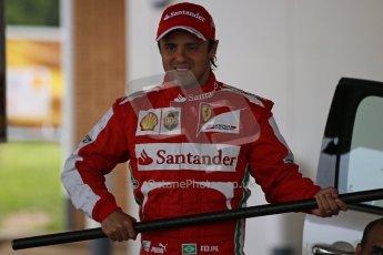 World © Octane Photographic Ltd. GP2 British GP, Silverstone, Thursday 27th June 2013. Felipe Massa - Scuderia Ferrari - Shell Towcester Pit Stop. Digital Ref : 0723lw1d9719