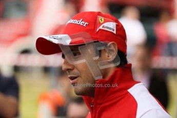 World © Octane Photographic Ltd. GP2 British GP, Silverstone, Thursday 27th June 2013. Felipe Massa - Scuderia Ferrari - Shell Towcester Pit Stop. Digital Ref : 0723lw1d9807