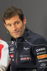 World © Octane Photographic Ltd. F1 British GP - Silverstone, Thursday 27th June 2013. Infiniti Red Bull Racing - Mark Webber. Digital Ref : 0723lw7dx0172