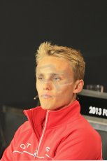 World © Octane Photographic Ltd. F1 British GP - Silverstone, Thursday 27th June 2013. Marussia F1 Team - Max Chilton. Digital Ref : 0723lw7dx0239