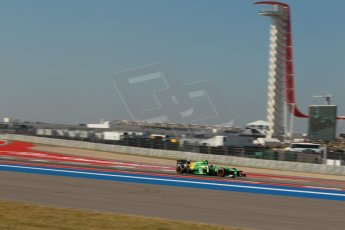 World © Octane Photographic Ltd. F1 USA GP - Austin, Texas, Circuit of the Americas (COTA), Friday 15th November 2013 - Practice 1. Caterham F1 Team CT03 – Alexander Rossi. Digital Ref : 0853lw1d1383