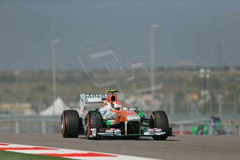 World © Octane Photographic Ltd. F1 USA GP - Austin, Texas, Circuit of the Americas (COTA), Friday 15th November 2013 - Practice 1. Sahara Force India VJM06 - Adrian Sutil. Digital Ref : 0853lw1d3265