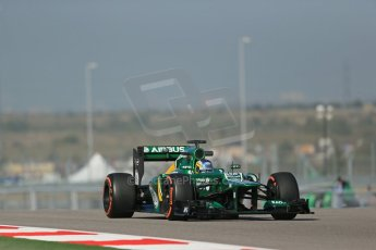 World © Octane Photographic Ltd. F1 USA GP - Austin, Texas, Circuit of the Americas (COTA), Friday 15th November 2013 - Practice 1. Caterham F1 Team CT03 - Charles Pic. Digital Ref : 0853lw1d3327