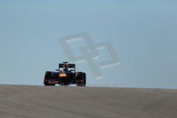 World © Octane Photographic Ltd. F1 USA GP, Austin, Texas, Circuit of the Americas (COTA), Friday 15th November 2013 - Practice 2. Infiniti Red Bull Racing RB9 - Sebastian Vettel. Digital Ref : 0854lw1d3693