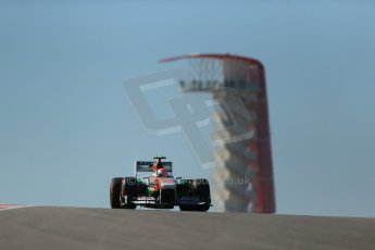 World © Octane Photographic Ltd. F1 USA GP, Austin, Texas, Circuit of the Americas (COTA), Friday 15th November 2013 - Practice 2. Sahara Force India VJM06 - Adrian Sutil. Digital Ref : 0854lw1d3717