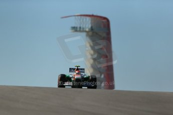 World © Octane Photographic Ltd. F1 USA GP, Austin, Texas, Circuit of the Americas (COTA), Friday 15th November 2013 - Practice 2. Sahara Force India VJM06 - Adrian Sutil. Digital Ref : 0854lw1d3788