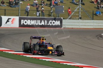 World © Octane Photographic Ltd. F1 USA GP, Austin, Texas, Circuit of the Americas (COTA), Friday 15th November 2013 - Practice 2. Infiniti Red Bull Racing RB9 - Mark Webber. Digital Ref : 0854lw1d4175