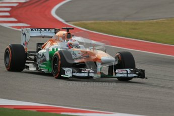 World © Octane Photographic Ltd. F1 USA GP, Austin, Texas, Circuit of the Americas (COTA), Saturday 16th November 2013 - Practice 3. Sahara Force India VJM06 - Paul di Resta. Digital Ref : 0857lw1d4904