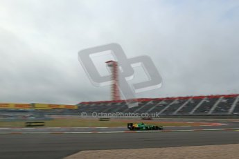 World © Octane Photographic Ltd. F1 USA GP, Austin, Texas, Circuit of the Americas (COTA), Saturday 16th November 2013 - Practice 3. Caterham F1 Team CT03 - Giedo van der Garde. Digital Ref : 0857lw1d5074