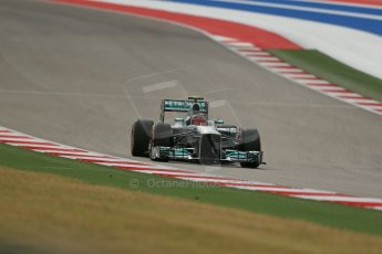 World © Octane Photographic Ltd. F1 USA GP, Austin, Texas, Circuit of the Americas (COTA), Saturday 16th November 2013 - Practice 3. Mercedes AMG Petronas F1 W04 – Lewis Hamilton. Digital Ref : 0857lw1d5362