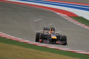 World © Octane Photographic Ltd. F1 USA GP, Austin, Texas, Circuit of the Americas (COTA), Saturday 16th November 2013 - Practice 3. Infiniti Red Bull Racing RB9 - Mark Webber. Digital Ref : 0857lw1d5376