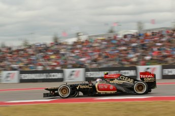 World © Octane Photographic Ltd. F1 USA GP, Austin, Texas, Circuit of the Americas (COTA), Saturday 16th November 2013 - Qualifying. Lotus F1 Team E21 - Romain Grosjean. Digital Ref : 0858lw1d1918