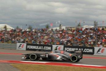 World © Octane Photographic Ltd. F1 USA GP, Austin, Texas, Circuit of the Americas (COTA), Saturday 16th November 2013 - Qualifying. Sauber C32 - Esteban Gutierrez. Digital Ref : 0858lw1d2031