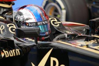 World © Octane Photographic Ltd. F1 USA GP, Austin, Texas, Circuit of the Americas (COTA), Saturday 16th November 2013 - Qualifying Parc Ferme. Lotus F1 Team E21 - Romain Grosjean. Digital Ref : 0858lw1d2131