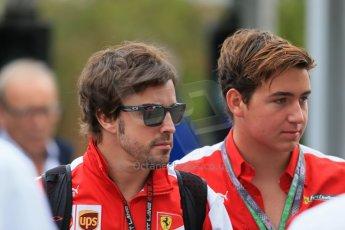 World © Octane Photographic Ltd. F1 USA GP, Austin, Texas, Circuit of the Americas (COTA), Saturday 16th November 2013 - Paddock. Scuderia Ferrari F138 - Fernando Alonso. Digital Ref : 0856lw1d4599