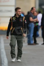 World © Octane Photographic Ltd. F1 USA GP, Austin, Texas, Circuit of the Americas (COTA), Saturday 16th November 2013 - Paddock. Lotus F1 Team 3rd driver – Davide Valsecchi. Digital Ref : 0856lw1d4627
