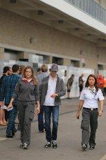World © Octane Photographic Ltd. F1 USA GP, Austin, Texas, Circuit of the Americas (COTA), Sunday 17th November 2013 - Paddock. Sauber - Esteban Gutierrez. Digital Ref : 0859lw1d5737