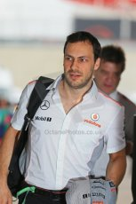World © Octane Photographic Ltd. F1 USA GP, Austin, Texas, Circuit of the Americas (COTA), Sunday 17th November 2013 - Paddock. Vodafone McLaren Mercedes - Gary Paffett. Digital Ref : 0859lw1d5789