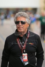 World © Octane Photographic Ltd. F1 USA GP, Austin, Texas, Circuit of the Americas (COTA), Sunday 17th November 2013 - Paddock. Mario Andretti. Digital Ref : 0859lw1d5823